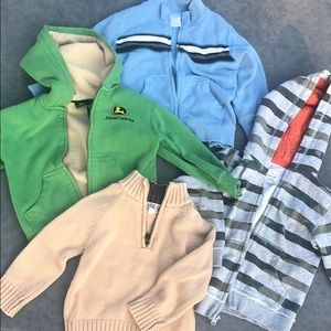 Other - Four sweatshirt sweater hoodie bundle 4 4T boy